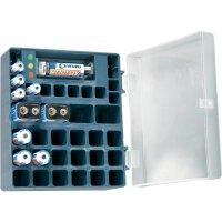 Box na baterie Conrad energy, včetně 4x AA, 4x AAA, 2x 9 V a zkoušečky baterií, 125 x 60 mm