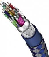 HDMI kabel, modré konektory 90°, 2 m, stříbrný, Inakustik