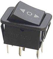 Přepínač kolébkový ON-OFF-ON 2p.250V/15A ( O )