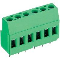Pájecí šroub. svorka 6nás. PTR AKZ700/6-5.08-V (50700060213E), 250 V/AC, 5,08 mm, zelená