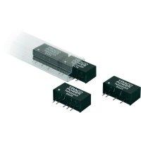 DC/DC měnič TracoPower TMH 0512D, vstup 5 V/DC, výstup ±12 V/DC, ±80 mA, 2 W