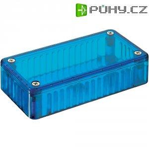 Transparentní pouzdro z polykarbonátu Hammond Electronics 1591 DTBU, 150 x 80 x 50 , modrá