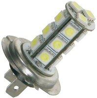 Žárovka LED-18x SMD 5050 H7 12V bílá