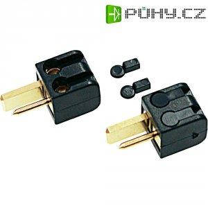 Konektor reproduktoru 2pól. AIV, zástrčka rovná, 2 ks, černá