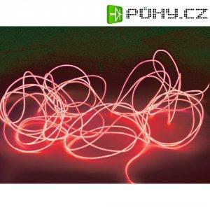 Elektroluminiscenční kabel, Ø 2 mm, 10 m, červená