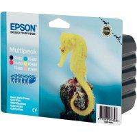 Sada náplní do tiskárny Epson T0487 C13T04874010, černá, azurová, purppurová, žlutá