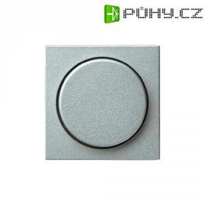Stmívací kolečko do rámečku Gira, krytka, standard 55, hliník (065026)