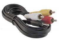 Kabel Jack 3.5 stereo 4pin - 3 x CINCH 1,5m