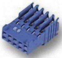 Pouzdro HE14 IDC TE Connectivity 281792-8, zásuvka rovná, AWG 28-26, 2,54 mm, 3 A, modrá