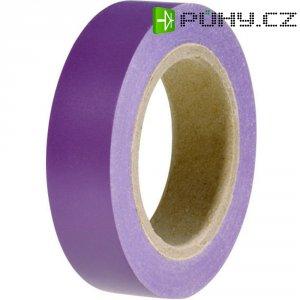 Izolační páska HellermannTyton HelaTapeFlex 15, 710-00109, 15 mm x 10 m, fialová