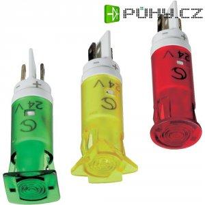 Signálka LED Signal Cons, SKHH10222, 12 V/DC / 12 V/AC, pouzdro PC bar./průh., zelená