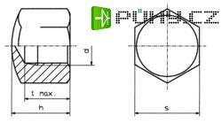 Matice Toolcraft, DIN 917, M4, pozinkovaná ocel, 10ks