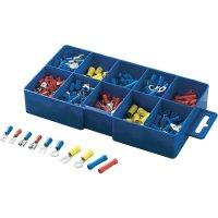 Sada lisovaných konektorů a spojek, 0,5 mm² - 2,5 mm², modrá/žlutá/červená, 230 ks, 450 ks