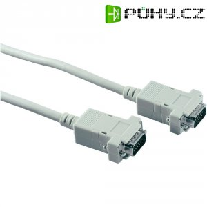Kabel VGA vidlice ⇔ vidlice, 1,8 m, šedá