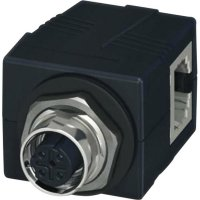 Konektor jack M12 do panelu Contact VS-BH-M12FSD-RJ45/90