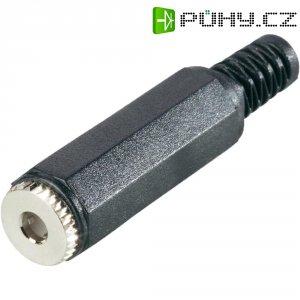 Jack konektor 3,5 mm stereo BKL 1108017, zásuvka rovná, 4pól., černá