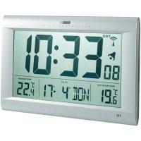Digitální nástěnné DCF hodiny Jumbo s venkovní teplotou