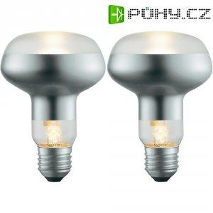 Halogenová žárovka Sygonix, E27, 53 W, 116 mm, stmívatelná, teplá bílá, 2 ks