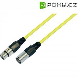 Patchkabel XLR (M) / XLR (F), 1 m, žlutá
