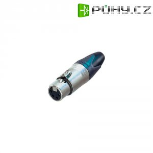 XLR kabelová zásuvka Neutrik NC4FXX, rovná, 4pól., 3,5 - 8 mm , stříbrná