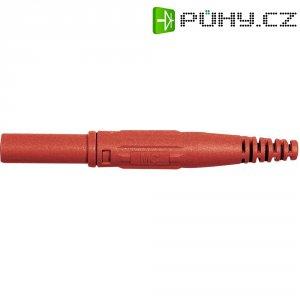 Laboratorní konektor Ø 4 mm MultiContact 66.9196-22, zástrčka rovná, červená