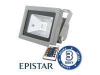 LED venkovní reflektor 30W RGB EPISTAR, MCOB, AC 230V, šedý