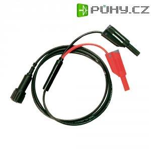Měřicí kabel Testec 7076-IEC-50-100-S, 1 m, černá/červená