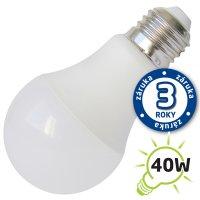 LED žárovka A60, E27/12V DC, 5W (Pc) - bílá teplá (záruka 3 roky)