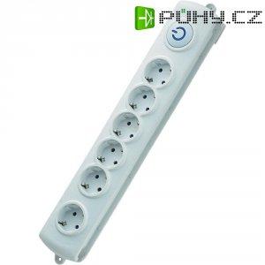 Zásuvková lišta s nožním spínačem GAO EMP306K, 6 zásuvek, 3680 W, bílá