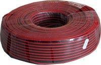 Dvojlinka 2x1mm2 17AWG červeno-černá, balení 100m
