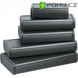 Pouzdro Alubos Bopla ABPH 800-200, (d x š x v) 200 x 82 x 32 mm, černá (ABPH 800-200)