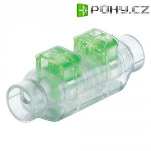 Kabelová spojka TE Connectivity, 293545-1, 0,82 - 1 mm², 2pólová, transparentní/zelená