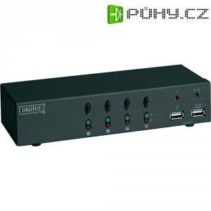 USB KVM přepínač, 4 porty, Digitus DC 12402