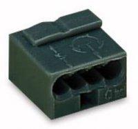 Mikro svorka Wago, 243-204, 0,6 - 0,8 mm², 4pólová, tmavě šedá