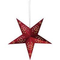 Papírové LED osvětlení do okna Polarlite LDE-03-002, do sítě, červená hvězda
