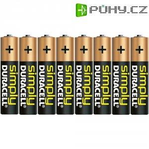 Alkalická baterie Duracell Simply, typ AAA, sada 8 ks