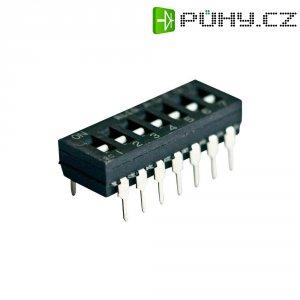 DIP přepínač TE Connectivity ADE0604, 1-1825002-3, 8pólový RM2,54