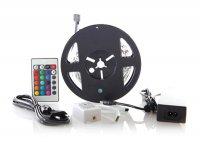 LED pásek 5050 30LED/m IP20 7.2W/m (1ks=cívka3m) adaptér, dálkové ovládání