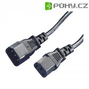 Prodlužovací IEC kabel, zástrčka C14 ⇔ zásuvka C13, černá, 1,8 m