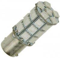 Žárovka LED Ba15S 12V/6W oranžová, 27xSMD5050