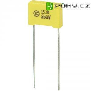 Foliový kondenzátor MKS, 0,015 µF, 250 V, 5 %, 13 x 4 x 9 mm