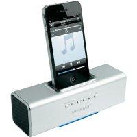 Dokovací sound stanice Technaxx MusicMan ® pro iPod,iPhone, stříbrná