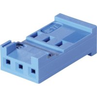 Pouzdro HE13/14 TE Connectivity 281838-4, zásuvka rovná, 2,54 mm, 3 A, modrá