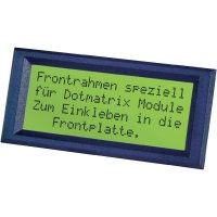 Rámeček pro alfanumerické LCD displeje 2x16