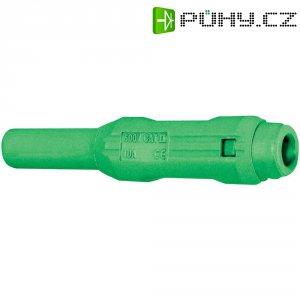 Laboratorní konektor Ø 2 mm MultiContact 65.3319-25, zásuvka rovná, zelená