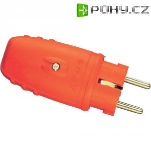 Chráněná zástrčka gumová, 230 V, 16 A, IP20, červená