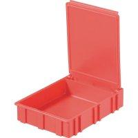 Box pro SMD součástky Licefa, N42277, 68 x 57 x 15 mm, zelená