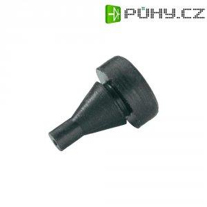 Tlumicí přístrojová nožička se západkou PB Fastener 1300-01, (Ø x v) 10 mm x 14.5 mm, černá, 1 ks