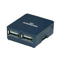 USB 2.0 hub Manhattan Hi-Speed Micro, 4-portový, modrý