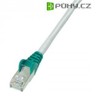 Síťový křížený kabel CAT 5e SF/UTP RJ 45, vidlice ⇔ vidlice, 2 m, šedý